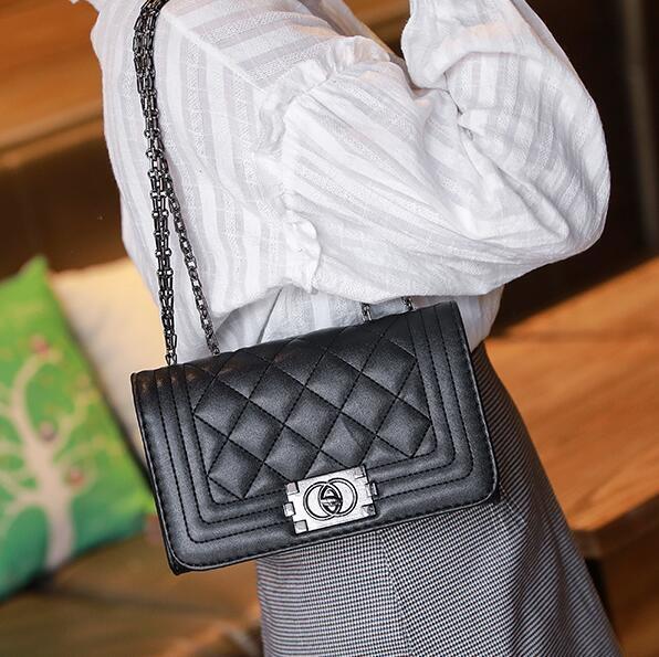 側背包小包包女ck新款潮韓版菱格錬條包女士小包包單肩包側背包