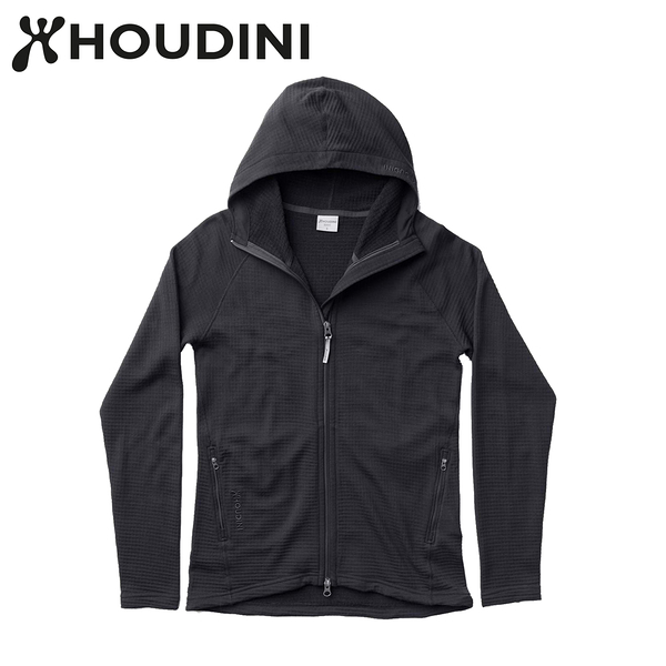 瑞典【Houdini】W`s Wooler Houdi 美麗諾女款羊毛外套 黑 125834