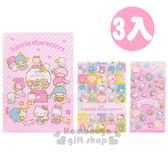 〔小禮堂〕Sanrio大集合 日製L型文件夾《3入.粉.愛心.糖果》繽紛80年代系列 4901610-95639