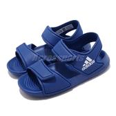 adidas 涼拖鞋 Altaswim I 藍 白 童鞋 小童鞋 魔鬼氈 運動涼鞋 【PUMP306】 EG2138