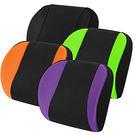 【源之氣】竹炭透氣加強記憶護腰靠墊/四色可選(黑/橘/紫/綠)  RM-9457