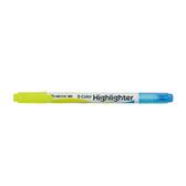 【奇奇文具】【優點 UNIPOINT 螢光筆】732TW 雙色螢光筆 (12支/盒)