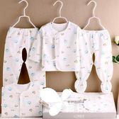 初生寶寶衣服純棉新生兒衣服0-3月嬰兒套裝用品春秋冬季滿月禮盒
