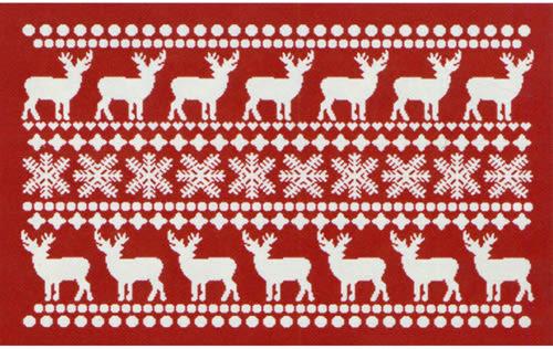 范登伯格 聖誕系列 雪花麋鹿腳踏墊-60x100cm