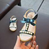 雙12好禮 2018夏季新款露趾女童涼鞋公主鞋蝴蝶結中大童珍珠兒童防滑軟底