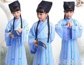 兒童古裝   小男孩幼兒童古代古裝漢服書童男女童國學三字經弟子規表演出服裝 綠光森林