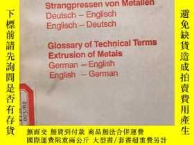 二手書博民逛書店Glossary罕見of Technical Term Extr