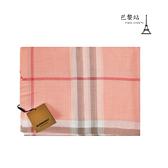 【巴黎站二手名牌專賣店】*現貨*BURBERRY 真品*粉色格紋絲巾 披巾 圍巾