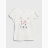 Gap女幼甜美荷葉邊飾短袖T恤539750-兔子印花