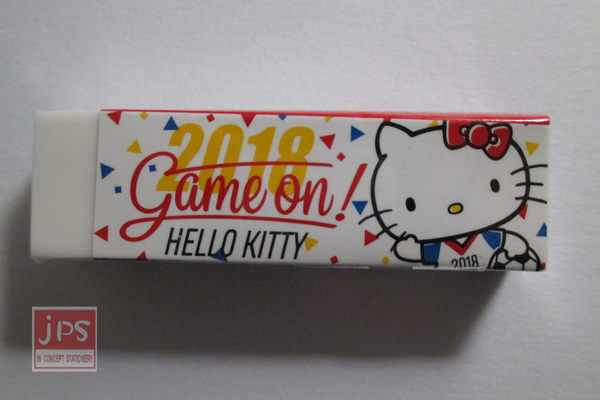 Hello Kitty 凱蒂貓 世足 黏屑橡擦 打招呼 KRT-663550b