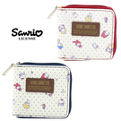 【日本正版】三麗鷗人物 皮質 短夾 皮夾 錢包 凱蒂貓/美樂蒂/雙子星 Sanrio 003413 003420