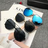 太陽眼鏡 不規則太陽眼鏡女潮墨鏡 台北日光
