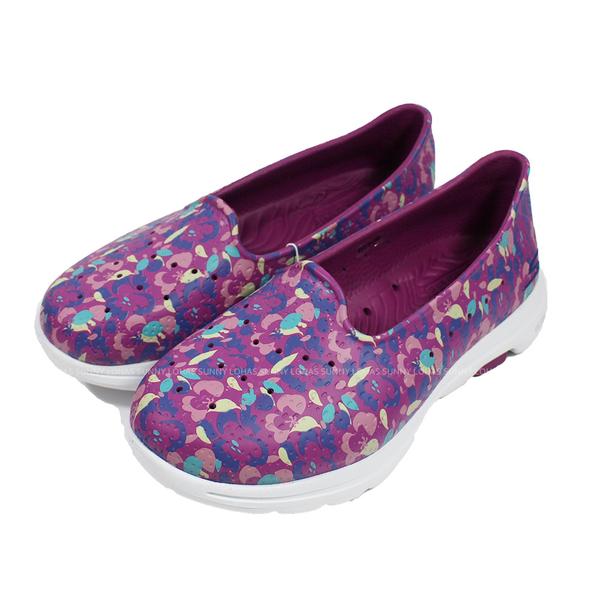 (B5)SKECHERS女鞋 GOWALK 5雨鞋 健走鞋 CALI GEAR 防水鞋 涼鞋 111106PRMT紫 [陽光樂活]