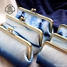 真我 藍染筆袋。手工口金文具袋 手賬收納包 藍染布包 手縫布藝包 黛尼時尚精品