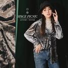 襯衫 Space Picnic 金屬光感天鵝絨長袖襯衫(現貨)【C19103009】