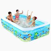 充氣泳池嬰兒童充氣游泳池家庭超大型海洋球池加厚家用大號成人戲水池igo    蜜拉貝爾