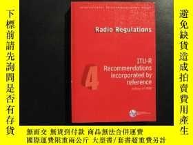 二手書博民逛書店Radio罕見Regulations 4 ITU-R Recom