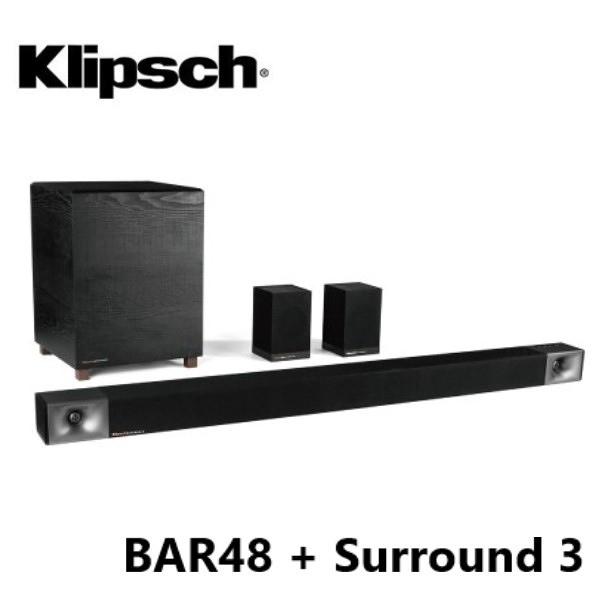 (5月限定) Klipsch 古力奇 Soundbar BAR-48 + Surround 3 無線環繞喇叭 5.1聲道劇院組