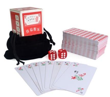 [協貿國際]小麻將塑料麻將牌紙牌麻將撲克旅遊麻將撲克迷你塑料麻將牌1套入
