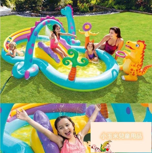 家用寶寶噴水戲水池兒童充氣游泳池家庭大號海洋球池沙池