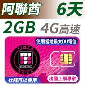 阿聯酋 6天 2GB高速上網 支援4G高速 (杜拜可以使用)