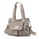 尼龍手提包-橫款大容量防潑水休閒女側背包6色74bb37[巴黎精品]