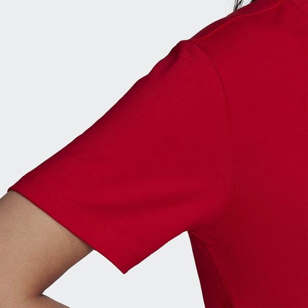 Adidas Originals ADICOLOR 女裝 短袖 休閒 棉質 三葉草 紅【運動世界】GN2902