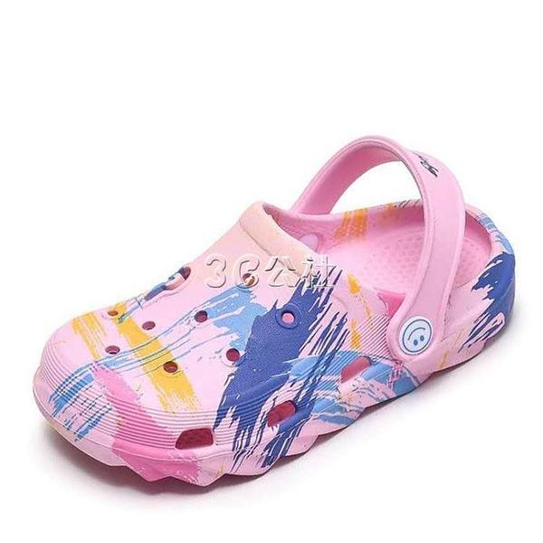 新款洞洞鞋女防滑軟底沙灘鞋韓版可愛卡通休閒 護士學生花園鞋