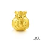 招好運 招福氣 福袋是一種節慶禮品,包含了神秘與驚喜。 福袋造型的黃金串珠精巧細緻,表面更具質感。