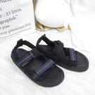 New Balance 韓國涼拖鞋 魔鬼氈 情侶鞋 SD3205HBK M楦 男女款 黑 整數碼【iSport愛運動】