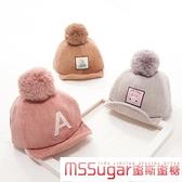 韓版寶寶帽子秋冬鴨舌帽6-12個月1-2歲嬰兒帽子燈芯絨兒童棒球帽