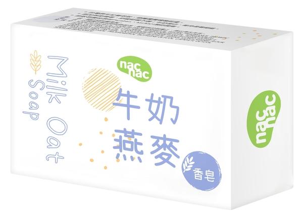 小饅頭**nac nac 牛奶燕麥嬰兒皂 75g(4716758133575)特價27元 台灣製造