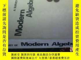 二手書博民逛書店A罕見SURVEY OF MODERN ALGEBRA4953