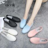 夏季PVC雨鞋女韓國可愛成人淺口防水果凍雨鞋水鞋女時尚晴雨兩用『小淇嚴選』