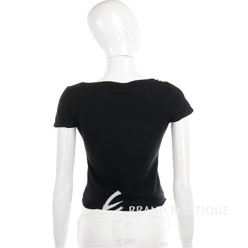 ROCCOBAROCCO 黑色條紋設計短袖上衣 0620730-01