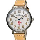 Bell & Ross WW1 GUYNEMER 一次大戰紀念錶-米白/45mm BRWW192-GUY/SWA