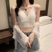 背心 小可愛短版上衣夏季蕾絲內搭文胸外穿短款吊帶背心女美背裹胸上衣 潮1F143快時尚