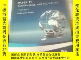 二手書博民逛書店ACCA罕見PAPER PI GOVERNANCE RISK A