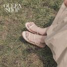 Queen Shop【05030205】雙細帶平底涼鞋 兩色售 35-39*現+預*