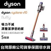 台灣公司貨 Dyson Cyclone V10 SV12 Fluffy 5吸頭 頂規 無線 吸塵器【DYS002】