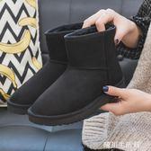 人本冬季雪地靴女2018新款韓版百搭學生短筒棉鞋加絨保暖短靴防滑 晴川生活館