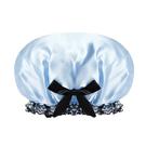 ✭米菈生活館✭【J076】雙層可愛防水浴帽 廚房 防油煙 淋浴頭套 伸縮優 防潑水 防濕 柔軟 PE