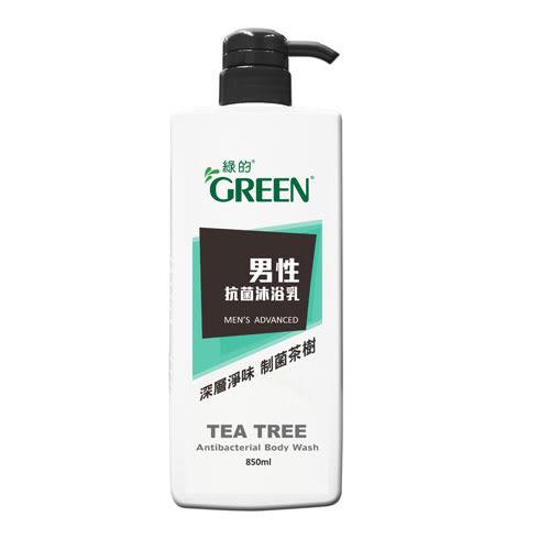 綠的男性抗菌沐浴乳-制菌茶樹1000ml【愛買】