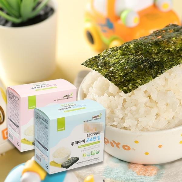 韓國 Naeiae 寶寶海苔 無鹽15g/薄鹽20g 寶寶食品 副食品 幼兒食品【庫奇小舖】