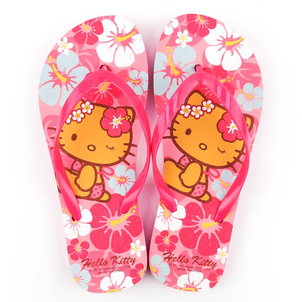 Hello Kitty夾腳拖 扶桑花夾腳拖鞋/夾腳拖/拖鞋/玩水/戲水/消暑 [喜愛屋]