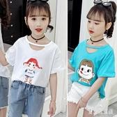女童夏裝短袖T恤衫2020夏季新款兒童裝中大童圓領上衣薄款半袖T恤 TR1425『寶貝兒童裝』