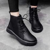 馬丁靴 秋季馬丁靴女新款加絨保暖學生韓版百搭短筒平底小短靴子 LN6149 【雅居屋】