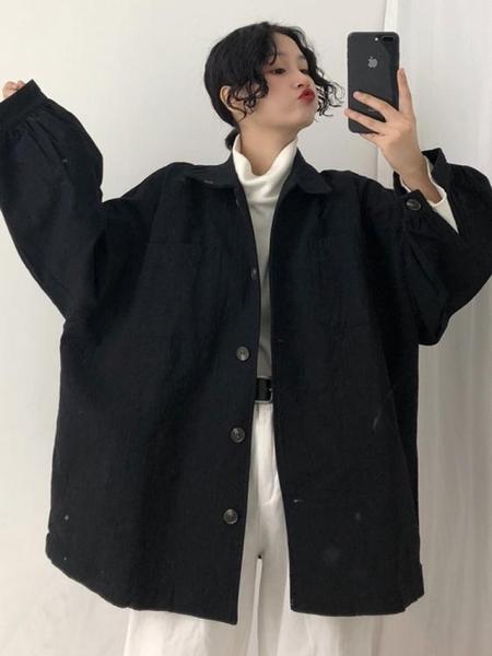 新款初秋工裝外套女春秋季韓版寬鬆bf風衣 新年禮物