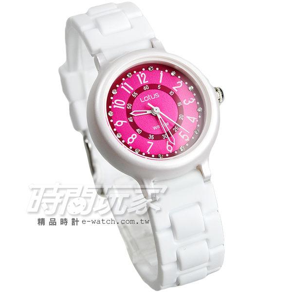 Lotus 時尚錶 日本機蕊 繽紛馬卡龍 數字時刻矽膠腕錶 數字錶 女錶 學生錶 TP2122L-05白桃