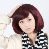 假髮(短髮)-潮流挑染魅力斜瀏海女假髮2色73em82[時尚巴黎]